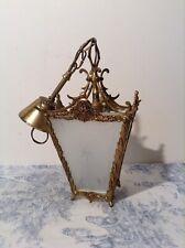 Vintage French Bronze Lantern Style Ceiling Light