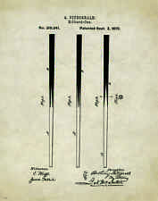 Pool Billiards Stick Patent Poster Art Print 11 x 14 Balls Cue Table  PAT352