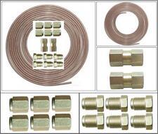 "Copper Nickel, Kunifer Brake Pipe 25ft Roll, 3/16"", 14 Metric Male Female Ends"