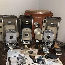 Vintage Polaroid Land Camera Models 800 & 150 Lot W/ Case & Accesories