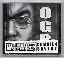 CD RAP FRANCAIS / OGB - COMBIEN SAVENT (NEUF SOUS CELLO) MENACE RECORDS