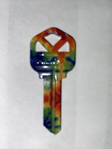 WacKey Tie-Dye KW1 Household Key Blank