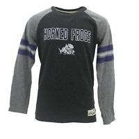 TCU Horned Frogs Official NCAA Kids Youth Size Distressed Long Sleeve Shirt New