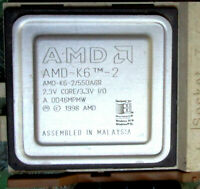 AMD K6-2 550AGR 550MHz Socket 7 CPU.  UNLOCKED with 1 Pak of Heatsink Compound.