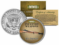 M1 GARAND * WWII Infantry Weapons * JFK Kennedy Half Dollar U.S. Coin