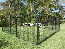 "Dog Playpen Premium 28"" 8 panel exercise cage pet fence enclosure portable Puppy"