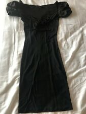Authentic DSQUARED2 woman black festive cocktail dress size Small Made in Italy