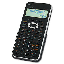 Sharp EL-W535XBSL Scientific Calculator, 16-Digit x 4-Line LCD, Black/Silver