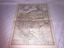 Vintage Turkey Rumania Servia Map CENTURY DICTIONARY AND CYCLOPEDIA 1906 20154