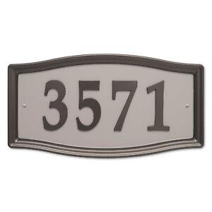 "Whitehall - Easy Street Address Plaque  15.5"" W x 8"" h x .5"" D - Bronze"