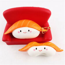 Salmon Sushi Squishiest Cream Scented Slow Rising Toy Cell Phone Charms Strap FR