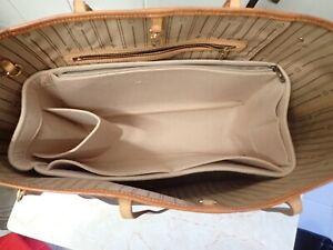 Bag Organizer For Neverfull MM / GM Base Shaper Liner Insert in Beige Color