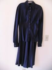 Vintage Chantal Thomass Paris Elegant Silk 2-Pc Long Dress Deep Purple Size 8