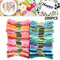 200 madejas de hilo de bordar de colores Terileno punto de cruz artesanía coser