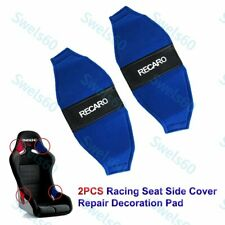X2 Jdm Recaro Racing Seat Blue Pvc Side Cover Repair Decoration Pad Seat Racing