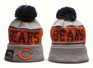 2021 NFL Chicago Bears Sideline Beanie Sports Knit Hats Fleece Lined Beanie Gray