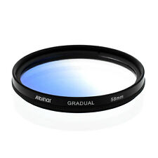 Albinar 58mm Blue Graduated Gradual Color Filter