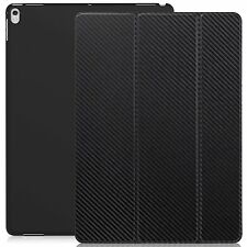 Apple iPad Pro 12.9 2017 Case DUAL Carbon Fiber Slim Cover w/ Rubberized back