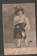 Norway 1904 child in rags clothes pc Kristiania to West Scarborough ME Maine