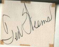 Ted Weems Autograph 1939 Popular American Bandleader & Musician D.63