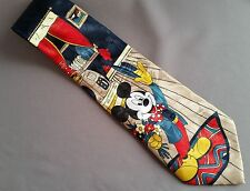 Disney Mickey Mouse Collector Men's Neck Tie Mickey Unlimited Blue with Mickey