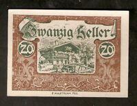 Austria Gutschein d. Gemeinde WALD 20 heller 1920 Austrian Notgeld banknote
