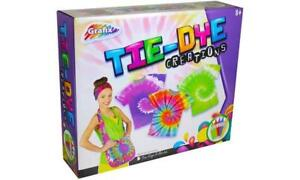 Tie Dye Kit Create Your Own style Design Childrens Kids Craft Fabric Dyeing Scie
