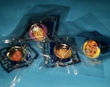 LOT X 4 THE THREE STOOGES TV SERIE METAL RING COLLECTIBLE ITEM MADE IN URUGUAY