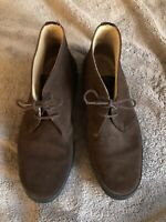 Sanders Brown Suede Chukka Boots Men's 10D Preowned
