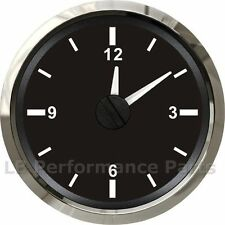 52mm Analogue 12v Clock Gauge Any Car Petrol Diesel Van - White Face