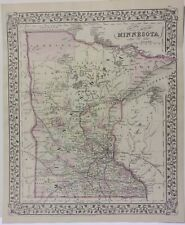 Minnesota Map 1879 Hand Colored Mitchell *********** Original ***********