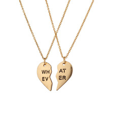 Lux Accessories Whatever BFF Best Friends Forever What Ever Necklaces (2 PC)