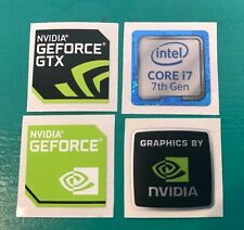 Nvidia Geforce GTX Intel Core i7 Sticker Combo 7th Gen Case Badge PC/Laptop