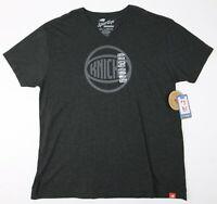 Sportiqe Mens New York Knicks V-Neck Short Sleeve T-Shirt Black 2XL New