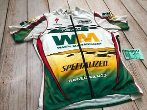 Men Sugoi Specialized Cycling Bike Full Zip Jersey Team Waste Management Small S