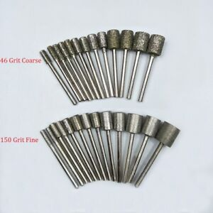 3mm-12mm Diamond Burr Grinding Head Bit 1/8'' Shank For Dremel Rotary Cylinder