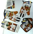 Home Collection 5 pcs Kitchen Towel, Oven Mitt, Pot Holders, scruber dishcloths