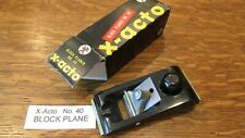 Rare Vintage X-Acto # 40 Block Plane New Nos in original box Precision Tool