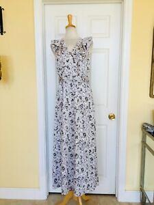 BANANA REPUBLIC long floral dress size 10