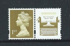 GREAT BRITAIN 2008 JAMES BOND LITHO STAMP EX BOOKLET UNMOUNTED MINT
