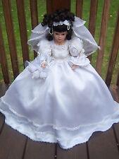 Vintage Porcelain Bride Doll,  SYLVIA Classic Brides of the Century THE EMERALD