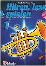 Botma/Kastelein - Hören, lesen & spielen - Trompete - Band 1 inkl. CD - Schule