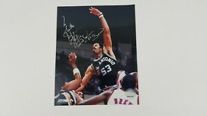 Artis Gilmore San Antonio Spurs NBA Signed 8x10 Photo HOF  Z3
