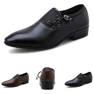 Large Size Mens Low Top Leisure Faux Leather Shoes Pointy Toe Business Office L