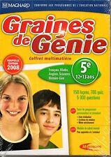 Coffret DVD Soutien Scolaire 5e Français Math Anglais Sciences Histoire-Géo