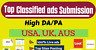 We manually Post your Advertisements to 30 Online Classified Ad Sites USA UK AUS
