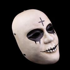Película cos Horror Halloween Rave Cosplay Fiesta Cross frame pieza facial