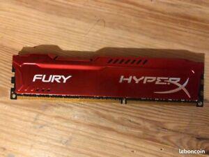 Barette de RAM HyperX Fury 8 Go DDR3 1866 MHz CL10
