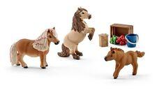 Mini Shetty Familie Shetland Pony Stute Hengs Fohlen Schleich Pferd Nr 41432 NEU