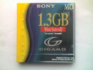 "SONY REWRITABLE 3.5"" 1.3Gb MAGNETO-OPTICAL DISK - MAC FORMATTED - SEALEDa"